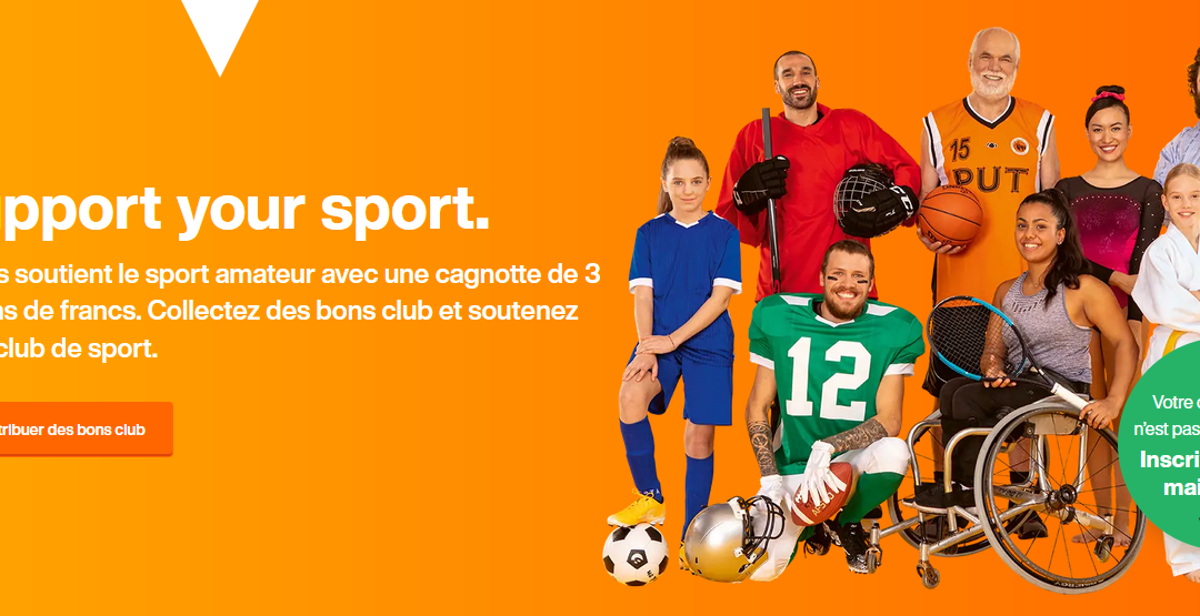 "Opération ""Support your Sport"" de la Migros"
